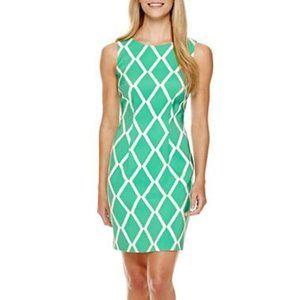 NWT AGB Diamond Print Stretch Dress
